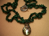 Malachite and Paua Shell Necklace