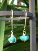 Turquoise Drop Nugget Earrings