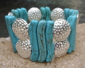 Turquoise and Steel Bracelet
