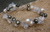 *Twisted Opalite and Pearl Bracelet