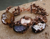 *Twisted Copper and Gemstone Bracelet