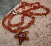 Carnelian Starfish Necklace