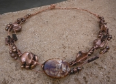 *Twisted Copper and Gemstone Necklace