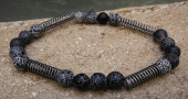 *Crackle Onyx and Spring Bracelet