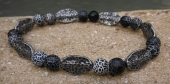 *Crackle Onyx and Gunmetal Bracelet