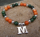 Go Green Go Orange Stretch Bracelet