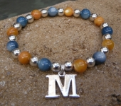 Maize and Blue Stretch Bracelet
