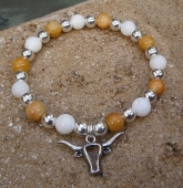 Hook \'Em Horns Stretch Bracelet