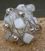 *Opalite and Steel Ring