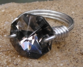 Smoke Crystal Ring