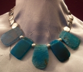 Crackle Blue Agate Necklace
