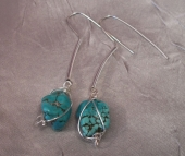 Dropping for Turquoise Earrings