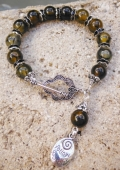 Following Your Heart in Amber Bracelet