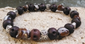 Mixed Agate and Wood Bracelet