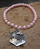 Rescued by Paws Pet Collar (Med to Lg)